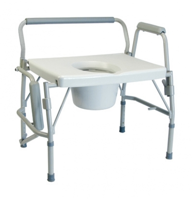 COMMODE DROP ARM X-WIDE IMPERIAL COL, LUMEX