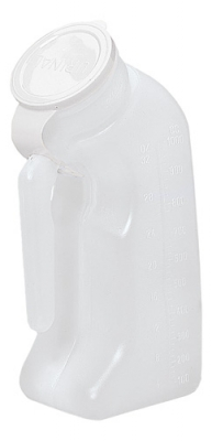 URINAL MALE PLASTIC W/CVR D GRAFCO