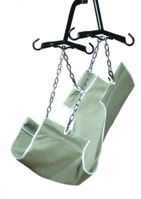 CANVAS 1-PIECE SLING (WITH COMMODE OPENING)
