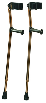 DELUXE FOREARM CRUTCH W/ ORTHO EASE GRIP, MEDIUM