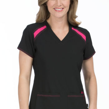 Women Med Couture Color Block Top