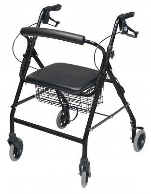 ROLLATOR ALUM WIDE BLACK WALKABOUT WIDE