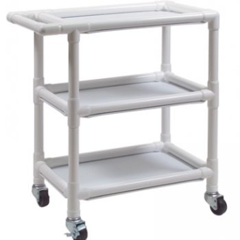 PVC Three-Shelf Utility Cart