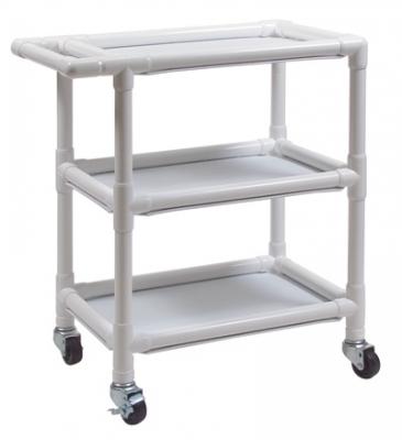 PVC Three-Shelf Utility Cart