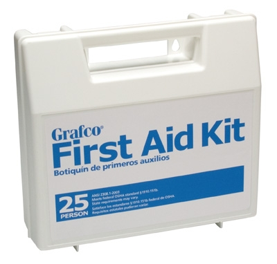 Stocked First Aid Kit - 25 person