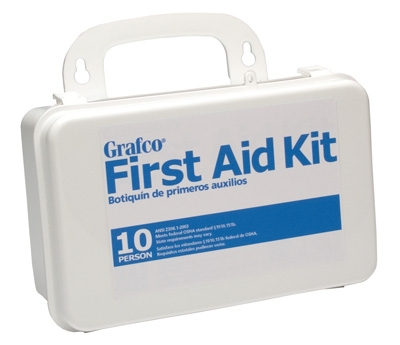 Stocked First Aid Kit - 10 person