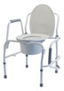 Silver Collection 3-in-1 Steel Drop Arm Commode