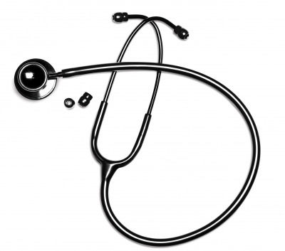 Panascope Deluxe Dual Head Stethoscope- Midnight Black